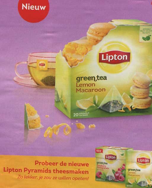 lemon macaron lipton