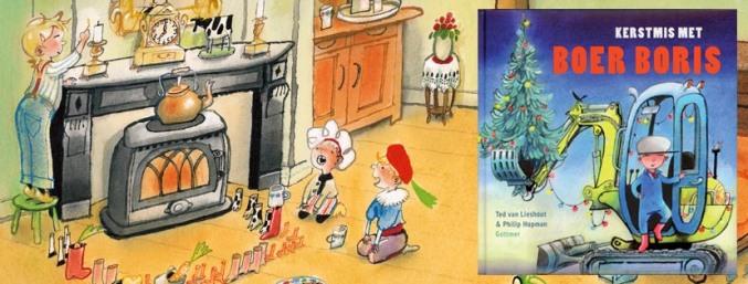 banner met kerstboek